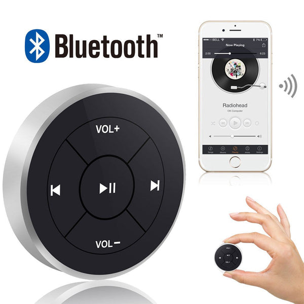 Wireless Bluetooth Media Remote Steering Wheel For MP3, Camera and Much More.