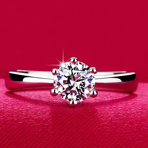 Classic Engagement Ring With Zircon Crystal