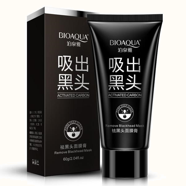 BIOAQUA Face Skin Care Suction Nose Blackhead Remover - Acne Treatment Masks Peeling Peel off Blackhead Mud Facial Mask