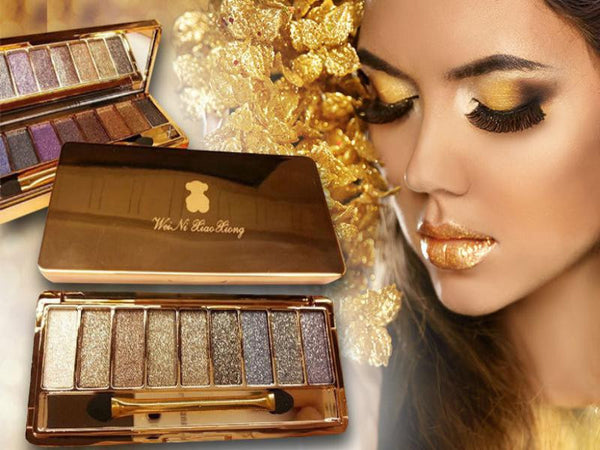 Professional Makeup Eyeshadow Naked Diamond Bright 9 Colors Palette.