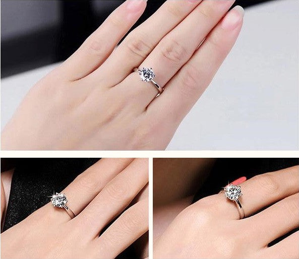 Classic Engagement Ring With Zircon Crystal - Free Just Pay Shipping