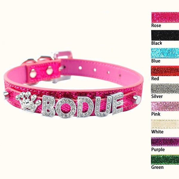 Bling Pet Dog Collar Rhinestone Customized