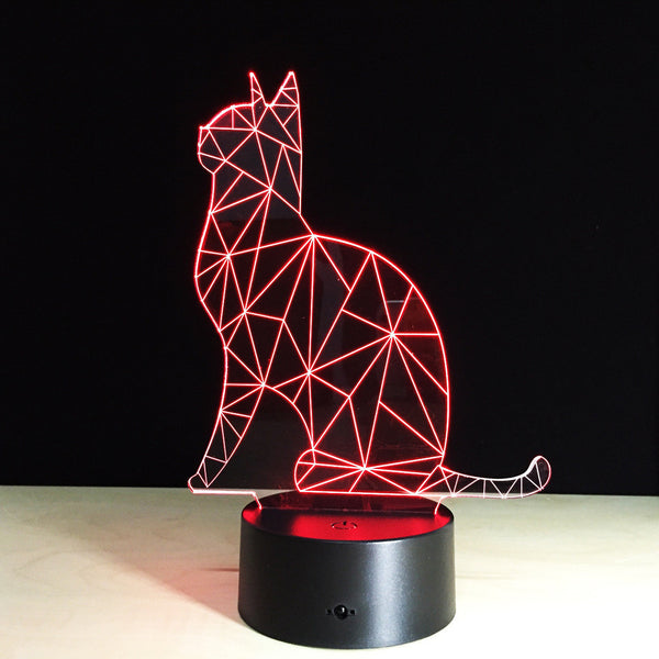 Artistic Cat 3D Led Lamp