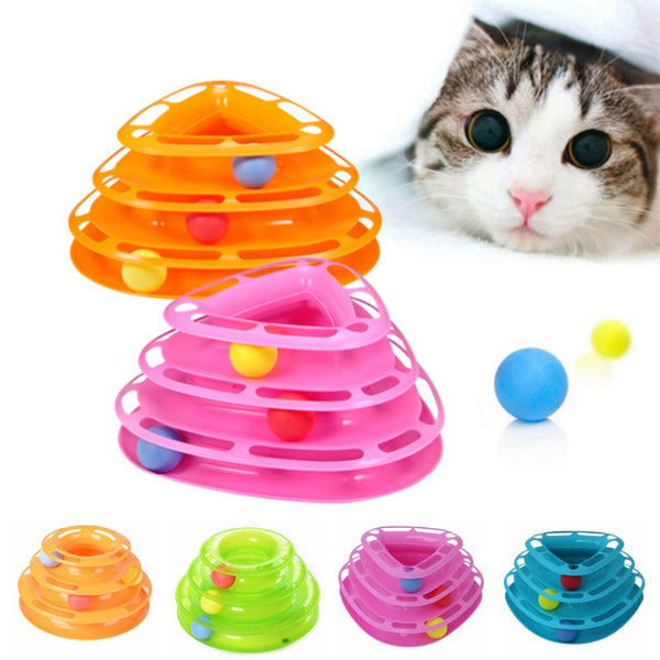 Cat Funny Toy Balls Intelligence Triple Play Disc