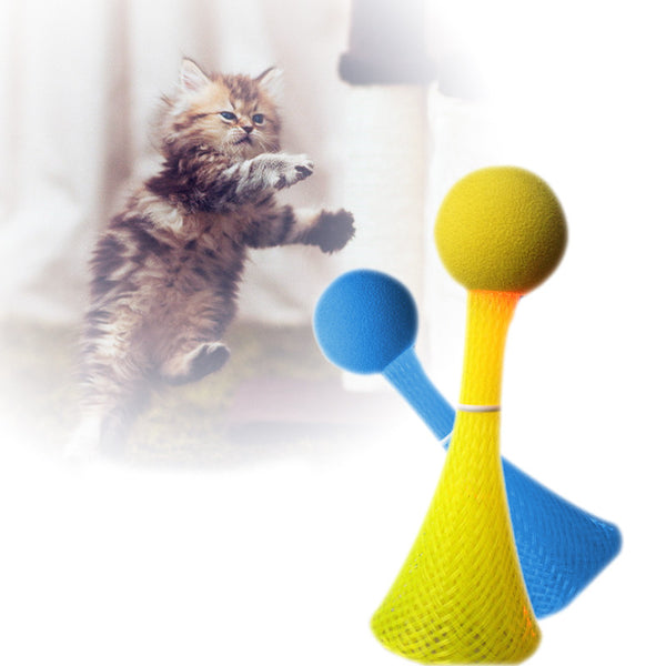 Cat Toys Flashing Bouncing Ball Bopper 3pcs/bag