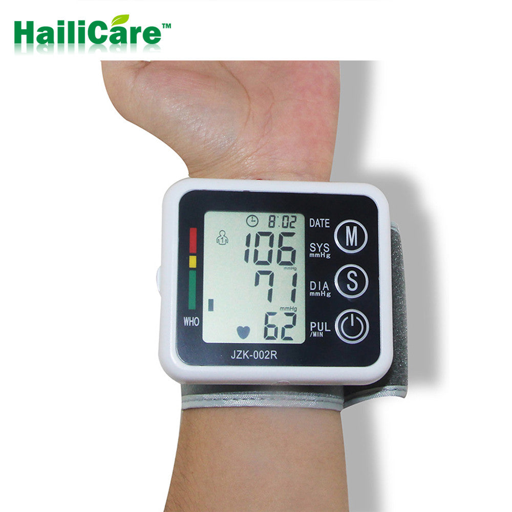 Automatic Digital Wrist Blood Pressure Monitor and Pulse Meter