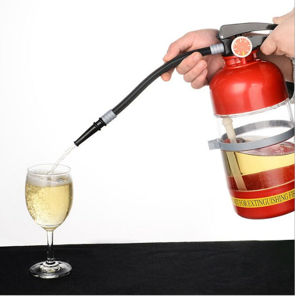 Creative Fire Extinguisher Drink Dispenser