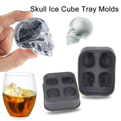 3D Skull Flexible Silicone Ice Cube