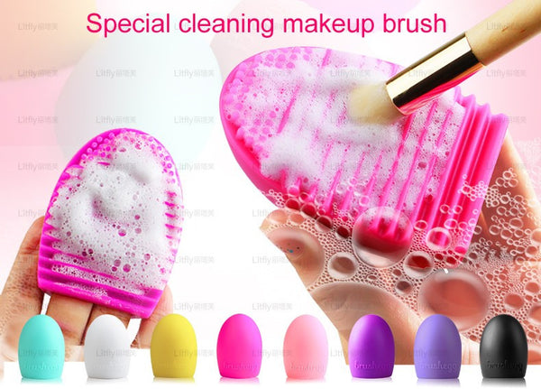 New Silicone Brush Cleaning Cosmetic Tools 8 Colors