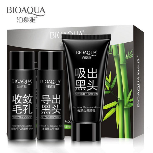 BIOAQUA Skin Care Facial Black Head Acne Treatment 3pcs - Free Shipping