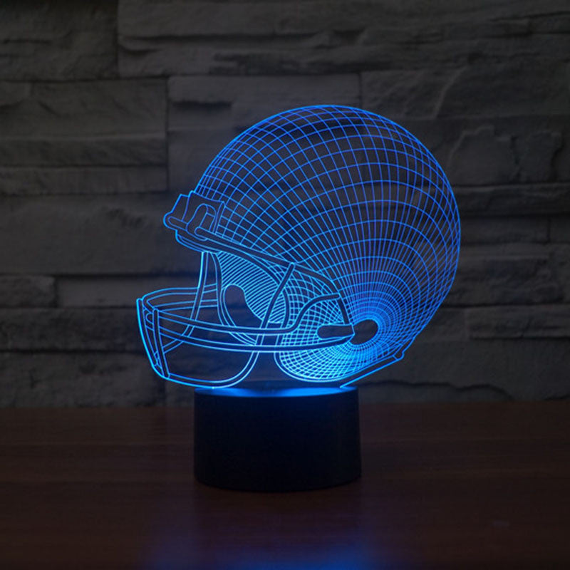 American Football Helmet 3D Night Led Light 7 Colors Changing