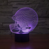 Sport Helmet 3D Night Led Light 7 Colors Changing
