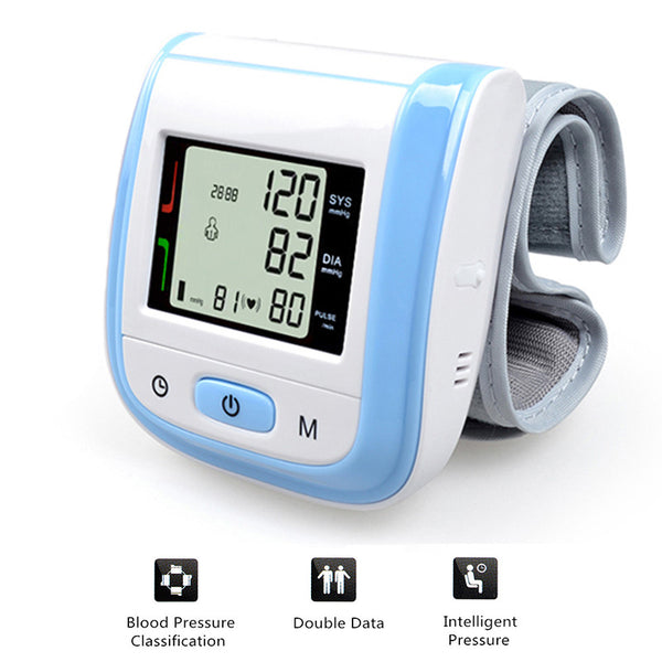Automatic Portable Wrist Blood Pressure Monitor - Esfingomanometro Tonometer