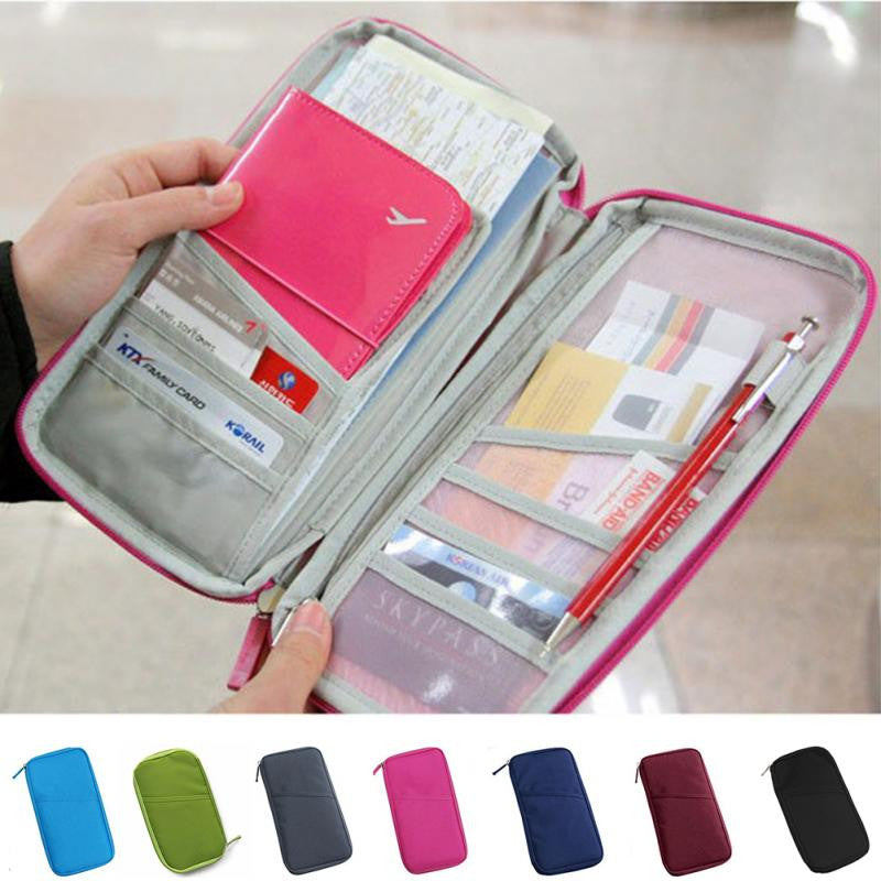 Multifunctional & Handy Short Organizer Wallet Traveler Documents / Unisex
