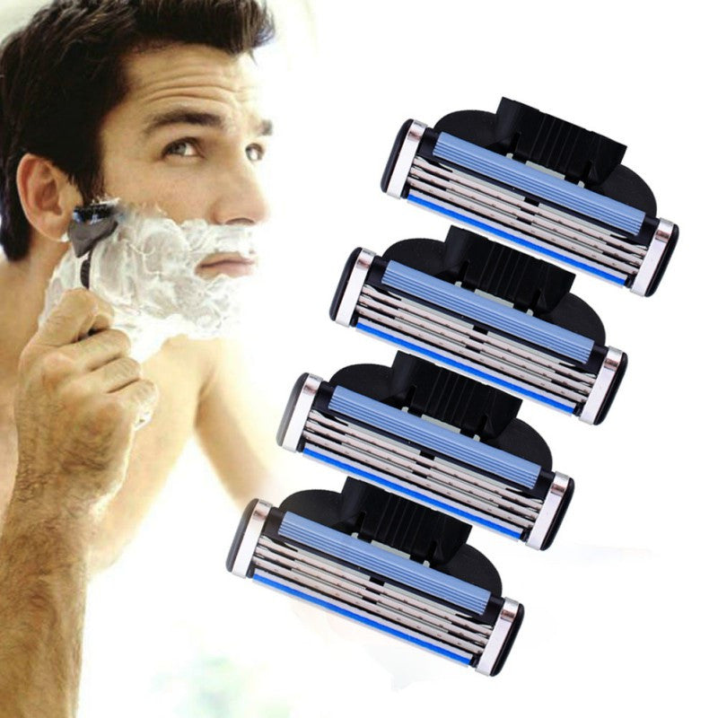 Men's Face Shaving Razor 4Pcs with 3 Blades