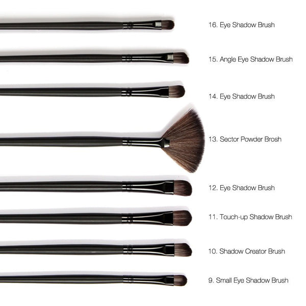 Natural Goat Hair 32pc/set  Makeup Brushes Professional Cosmetic