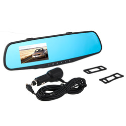 1PC Car DVR Camera Video Recorder 2.8inch 720P Rearview Mirror Dash Cam 120Degree Angle Vehicle Dual Lens Car Rear View