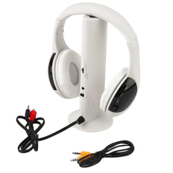 Multifunction 5 in 1 HiFi Wireless Headphone Earphone Headset Wireless Monitor FM Radio MP3 PC TV Audio Phones Free Shipping