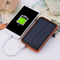 Super Thin Large Capacity Waterproof Portable Solar Power Bank Dual USB Solar Charger For Mobile Phones For Iphone