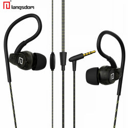 Langsdom SP80A Waterproof Sweatproof Earphone Super Stereo Bass Sport Running Jogging In Ear Headphone With Micphone