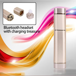 Newest Wireless Protable Bluetooth Earphone Handsfree With 600mA Power Bank In Ear Headset Music Stereo Double Ear Headset K2