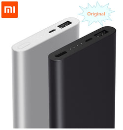 Original Xiaomi Mi 10000mAh Power Bank 2nd Quick Charger QC2.0 external battery pack portable charger USB output For phones pad