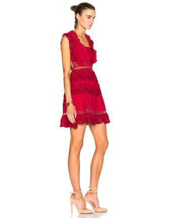 Three Tiered Peplum Lace Dress