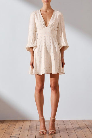 Hazel Plunged Mini Dress