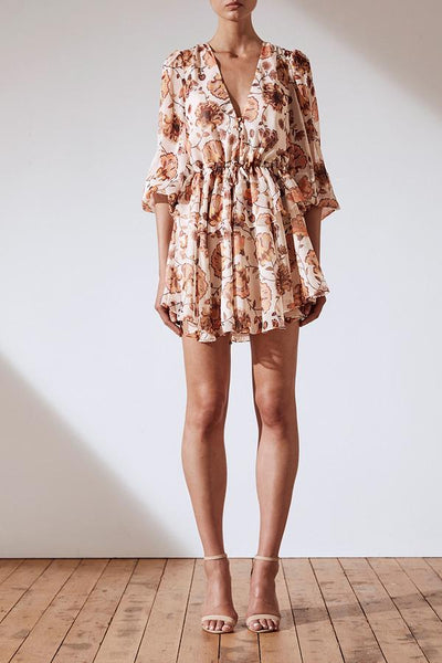 Baez Ballon Sleeve Mini Dress