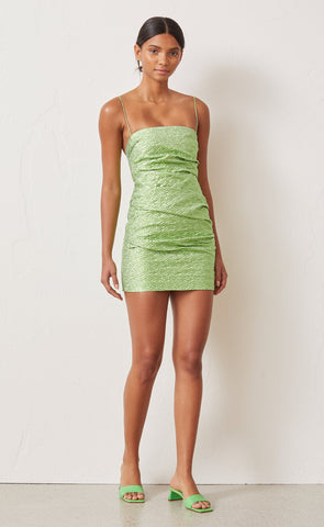 Apple Mini Dress- Lime