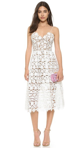 Azaelea  Dress in White