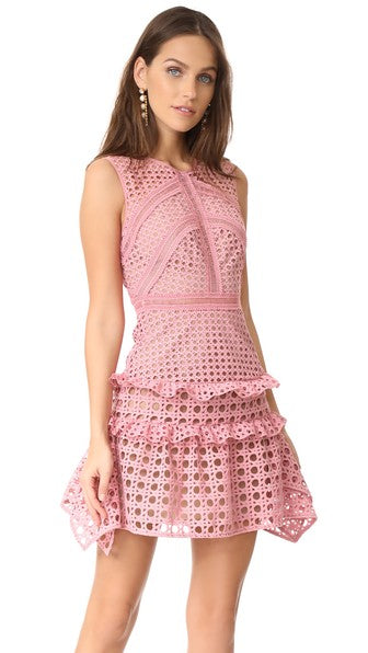 Cross Hatch frill mini dress