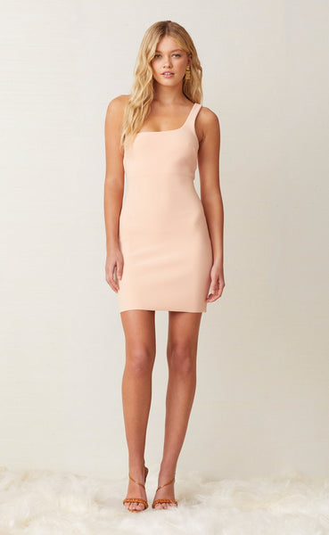 Ruby Mini Dress in Peach