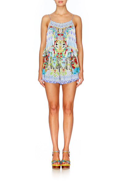 Masking Madness Shoestring Strap Playsuit