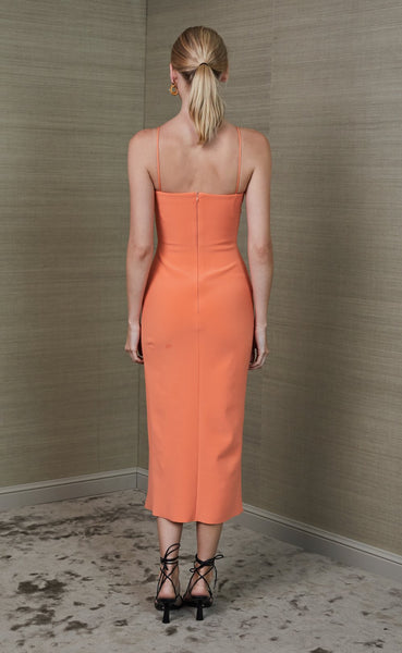 Clover Midi Dress- Tangerine