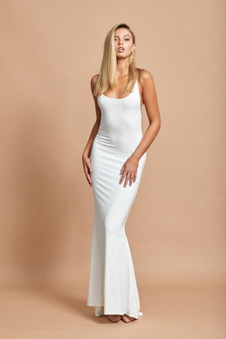Tempis Gown in White