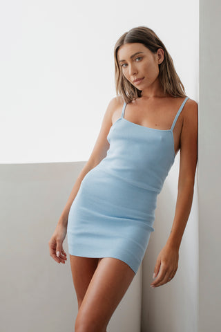 The day mini dress- Baby blue