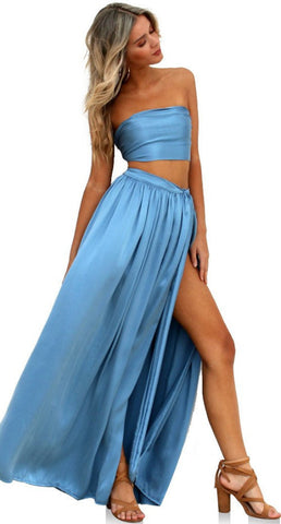 Sueded Silk Cool wrap two piece