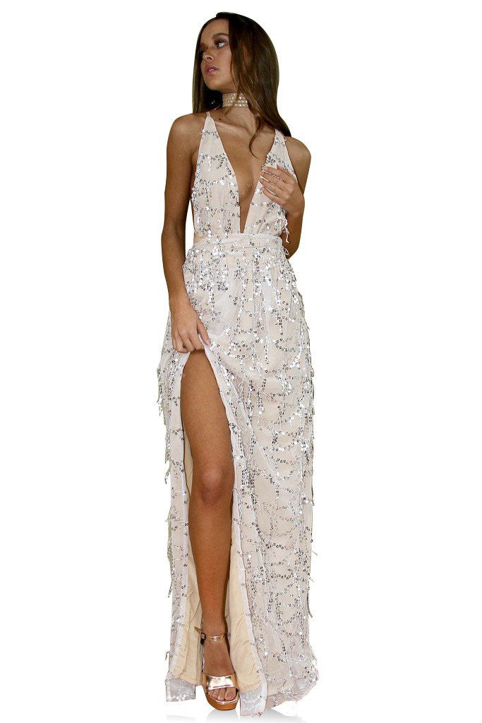 86de3e4165f Embellished Nearly Naked Multiway gown
