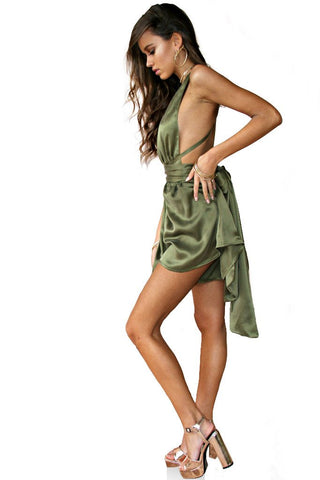 Sueded Silk Forest Multiway Playsuit