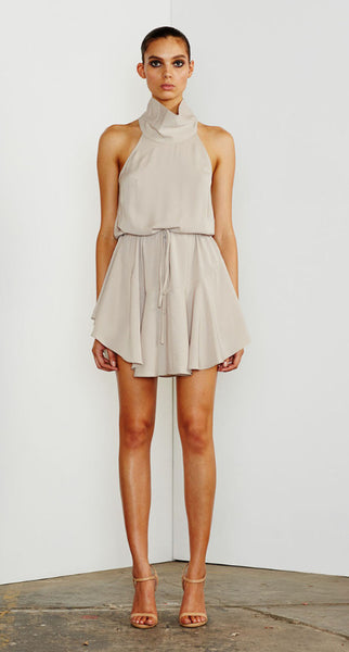 Core High neck drawstring dress