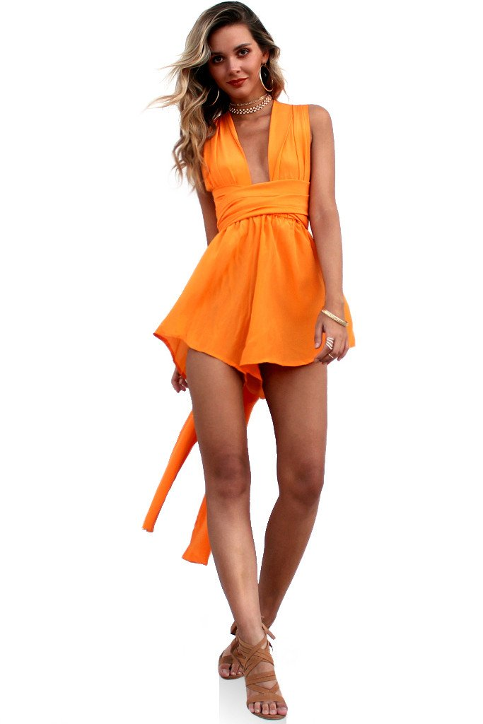 706cef4b85 Rent Sisters the Label - Tangerine Dream - Multiway Playsuit NZ ...