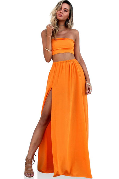 Two Piece gown - Tangerine Dream