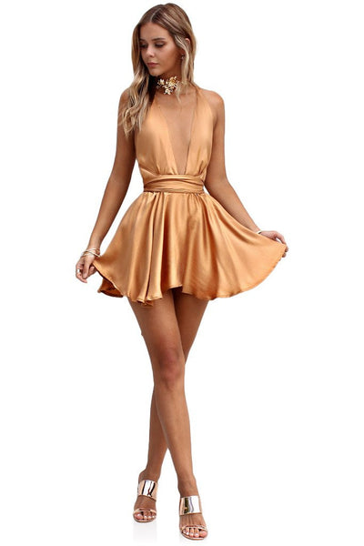 Sueded Silk fox teaser mini dress
