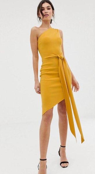 Tie Asymmetric Dress