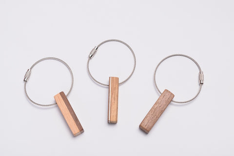 Wood Cable Key Chain