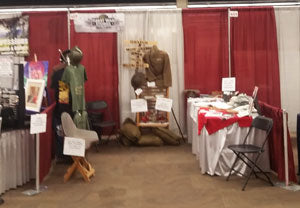 WW1 Booth at Homeschool Conference