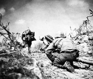 Japanese Forces on Iwo Jima Split in Two by Third Division