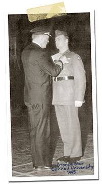 Hudson receiving the Bronze Star, November 1945