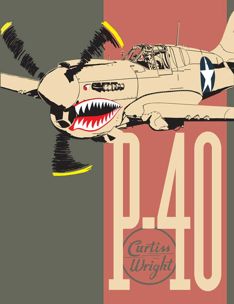 Art Print of Curtiss-Wright P-40 Warhawk